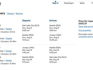 Alaska Airlines added mid day flights Yahoo!!