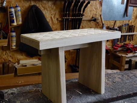木片織凳面