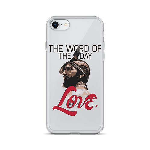 Word of The Day: Love iPhone Case Version 2
