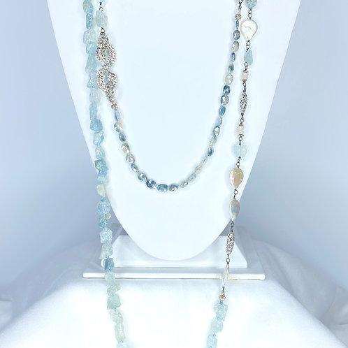 Aqua and Pearls