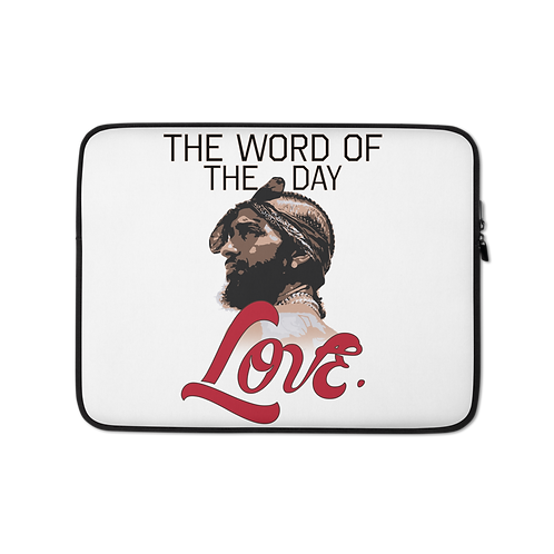 Word of The Day: Love- Laptop Sleeve Version 2