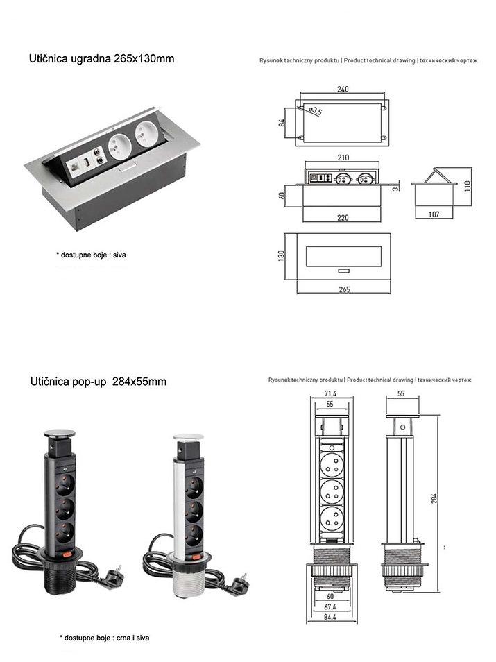 Utičnica, Uticnica, Produžni kabal, Produzni kabl, Cep za kablove, Držači za radne pregrade, Drzaci za radne pregrade, Prihvatnici za prednje panele, Drzac za kompjuter, kancelarijska oprema