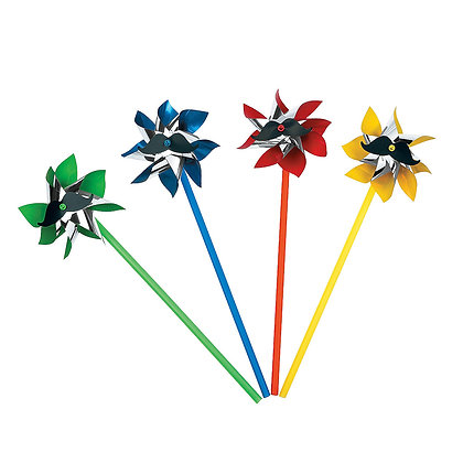Rainbow mustache pinwheels