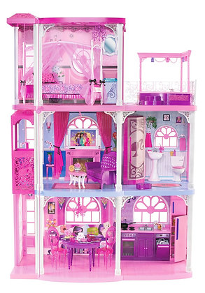 Barbie pink 3 story dream house