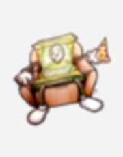 "Our company mascot ""Lazy Money"""