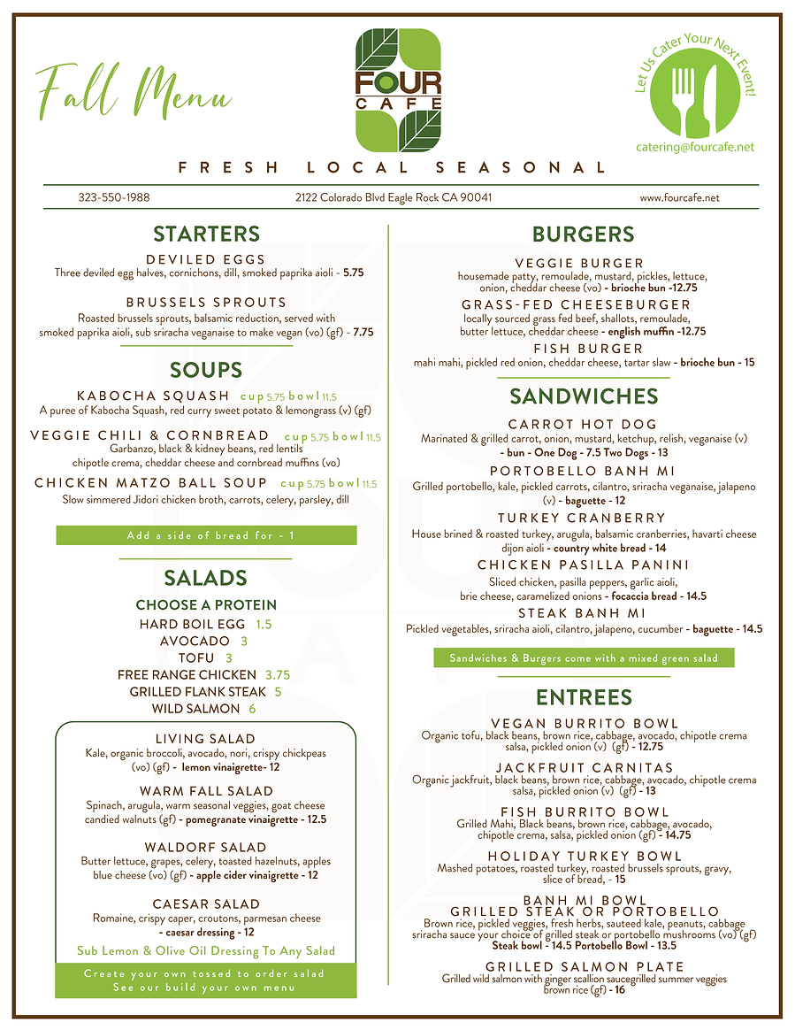 Four Cafe Fall Menu 2021 Front-01.png
