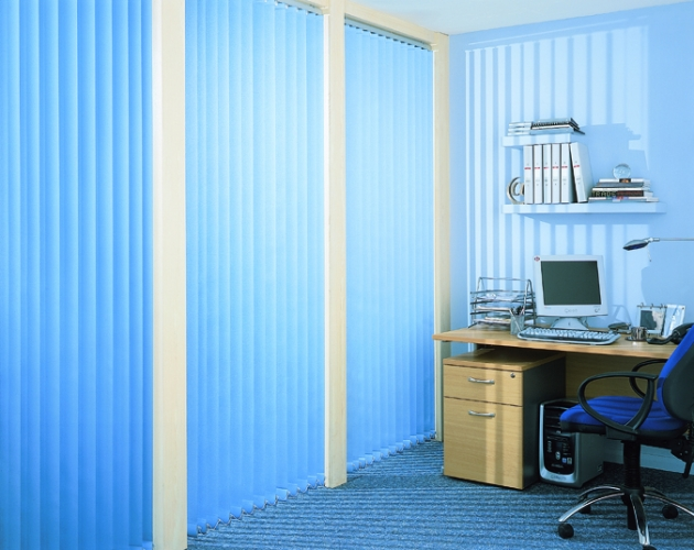 blue vertical office