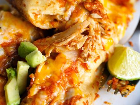 Chicken Enchiladas for Christmas