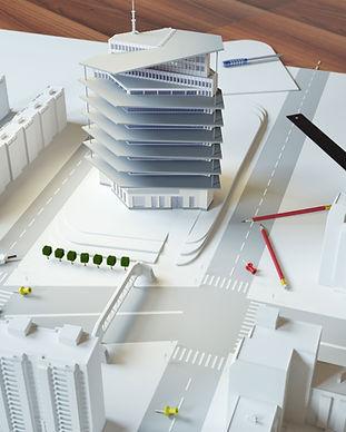 Städtische Architektur Modell