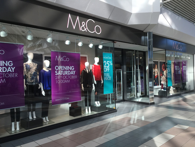 Works at M&Co in Gosport, Cosham in June 2018