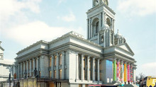 H.Monfared (Builders) commercial works at Portsmouth Guildhall, renovation of the 'Harlequin roo