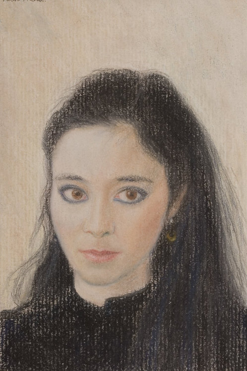 Pastel of a lady