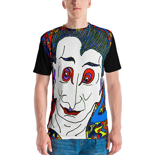 Men's T-shirt Count Dracula, Prince of Darkness (black back and sleeves)