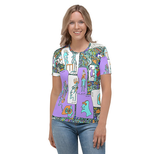 All-Over Print Women's Crew Neck T-Shirt Picasso's goat