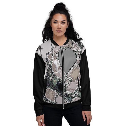 Unisex Bomber Jacket A heart of stone