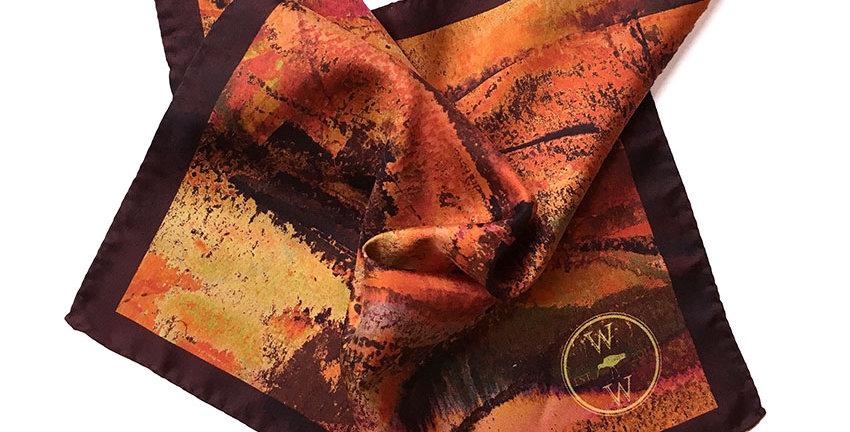 Watson West Silk Pocket Square - 'Timble'