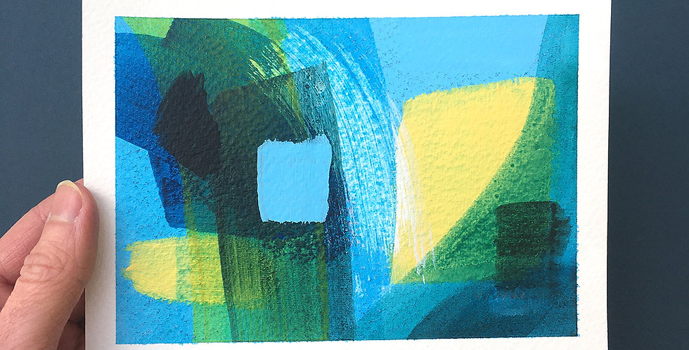 Blue Abstract Painting by William Watson-West