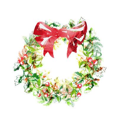 Christmas Wreath Christmas Card Set Of 5