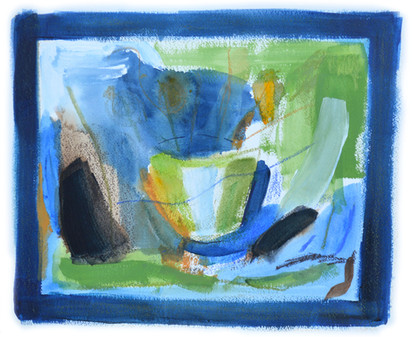 Still Life in Green and Blue