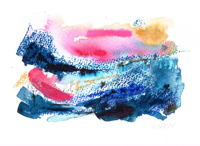 Impression in Pink and Blue