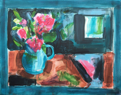 Jug with Pink Flowers