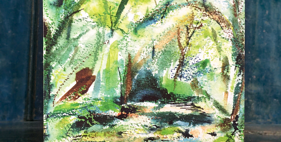 Greetings Card - 'Washburn Valley Early Autumn'