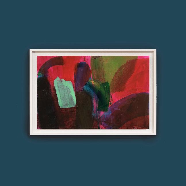 William Watson-West Dark Pink Light Fram