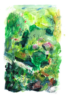 by William Watson-West Watercolour, pastel, ink and gouache on paper SOLD