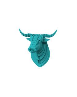 Cardboard Bull Blue 2