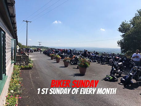 A typical biker sunday at Louis Tea Room