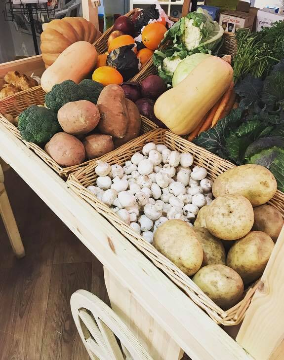 Louis Tea Room Farm Shop Veg Cart