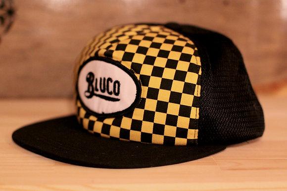 BLUCO W.G. (ブルコ) / Checker Flag Cap  black/mustard
