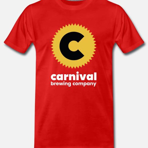 Carnival Logo T Shirt - Red