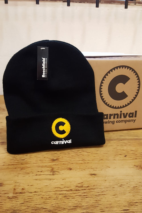 Carnival Knitted Hat - Black/Yellow