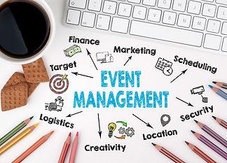 Event management concept. Computer keybo