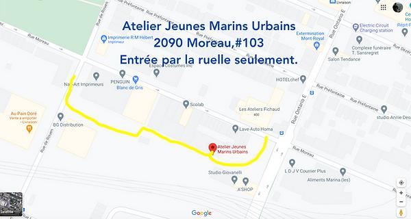 Direction Atelier Jeunes Marins Urbains.