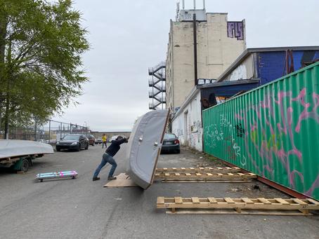 Faire pousser des voiles-avirons dans les ruelles montréalaises  (en attendant l'été).