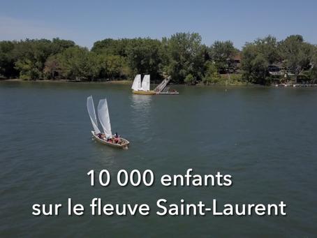 Le programme 10 000 enfants sur le fleuve Saint-Laurent de Jeunes Marins Urbains