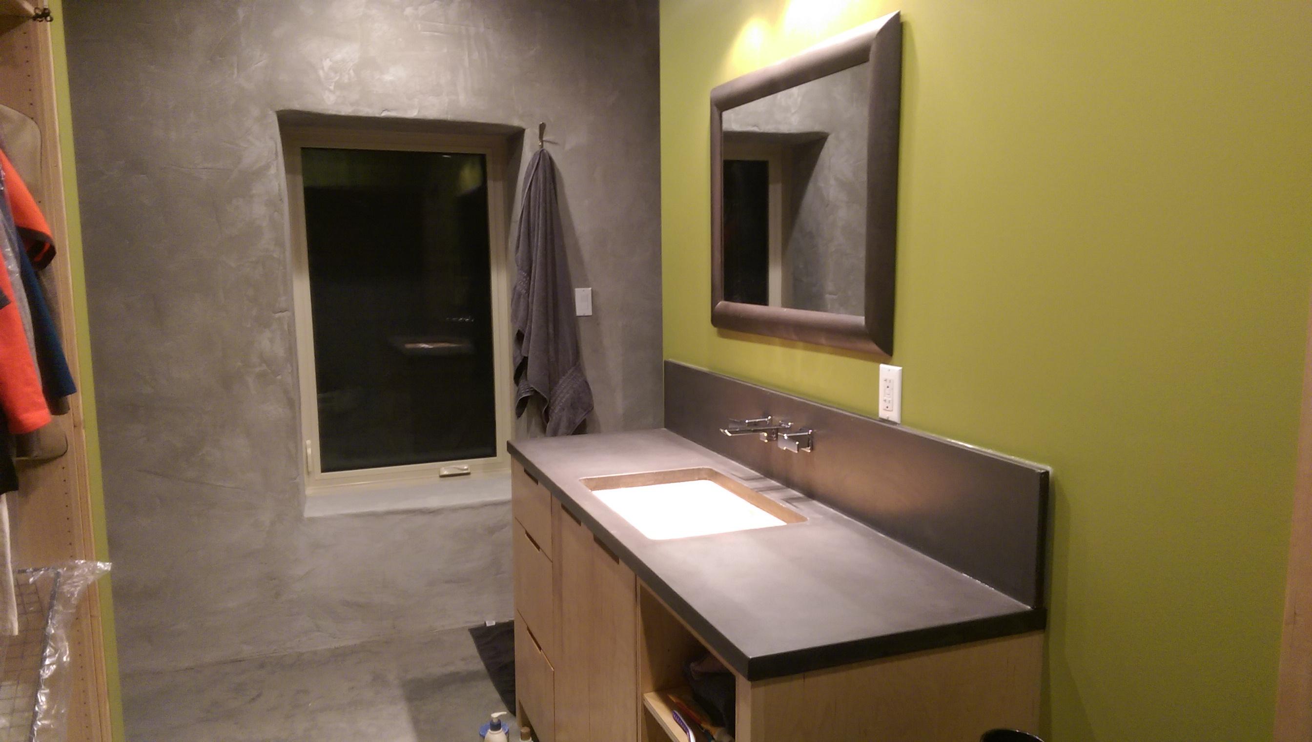 Bathroom Vanity and Backsplash