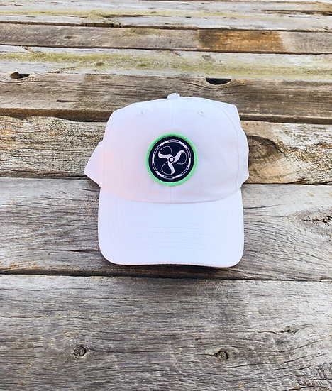Performance Logo Hat - White/Mint