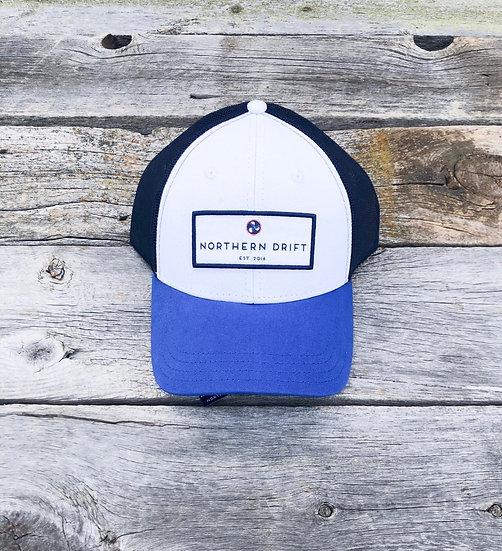 Classic Trucker Hat - White/Blue