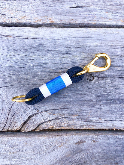 Navy/Pacific Blue Keychain