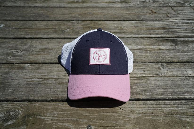 Pink/Navy Classic Trucker Hat