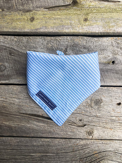 Light Blue Stripe Dog Bandana