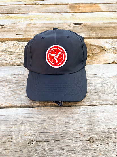Performance Logo Hat - Navy/Red