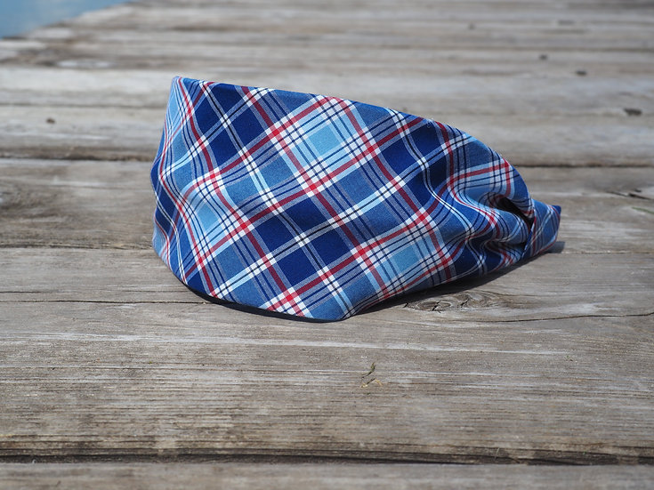 Red/White/Blue Plaid Headband