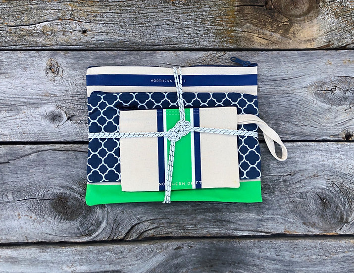 Green 3-piece Bag Set