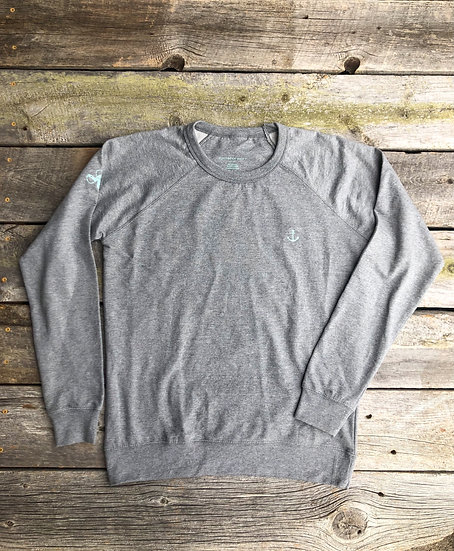 Heather Grey Signature Anchor Pullover