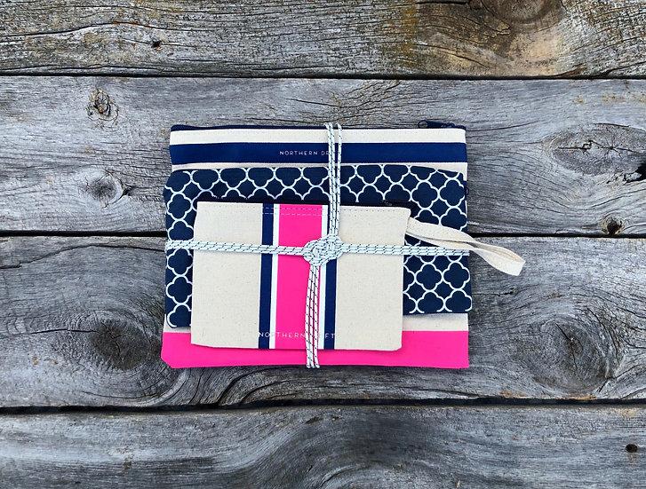 Pink 3-piece Bag Set