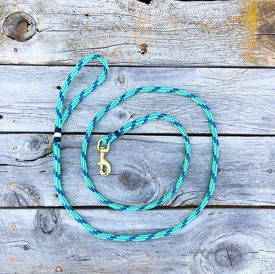 Multi Green/Navy Dog Leash